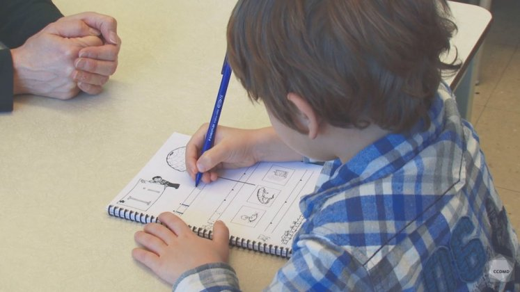 Vidéo : Calligraphie des lettres à 5 ans (1)