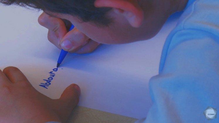 Vidéo : Écriture du prénom à 6 ans (1)